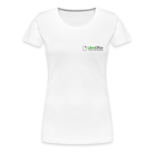 T Shirts Green Text Back png - Women's Premium T-Shirt