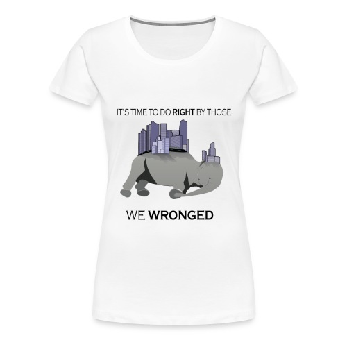 Save the Elephant Malin Rose n FRONT png - Premium-T-shirt dam