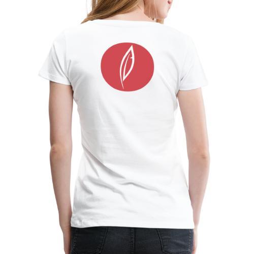 Logo - Rond rouge (dos) - T-shirt Premium Femme