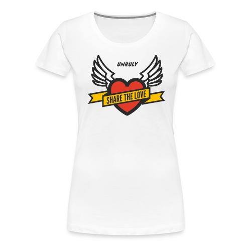 ShareTheLove-Black - Women's Premium T-Shirt