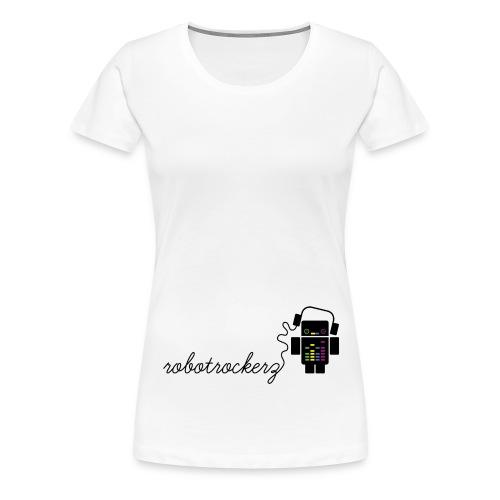 logo robotrockerz 1 - Frauen Premium T-Shirt