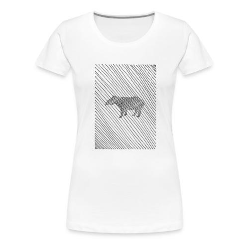 square lines - Frauen Premium T-Shirt