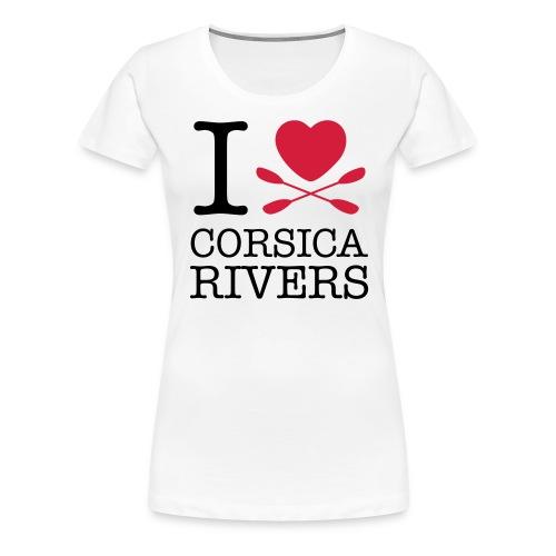 T-shirt I Love Corsica Ri - Frauen Premium T-Shirt
