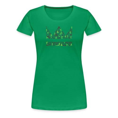 krone icons braungruen png - Frauen Premium T-Shirt