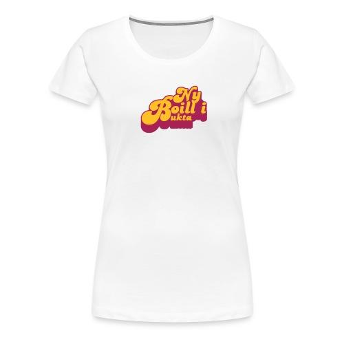 Ny boill i Bukta Gul - Premium T-skjorte for kvinner