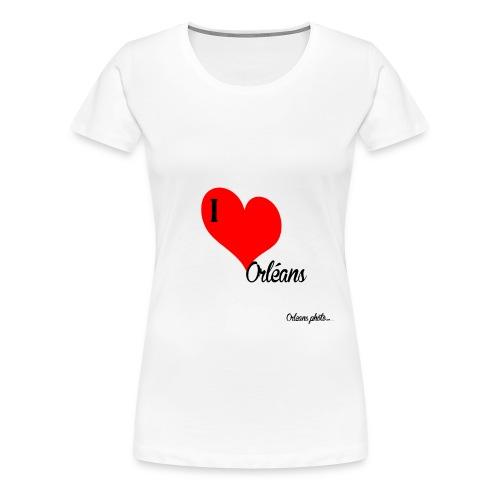 Iloveorléans png - T-shirt Premium Femme