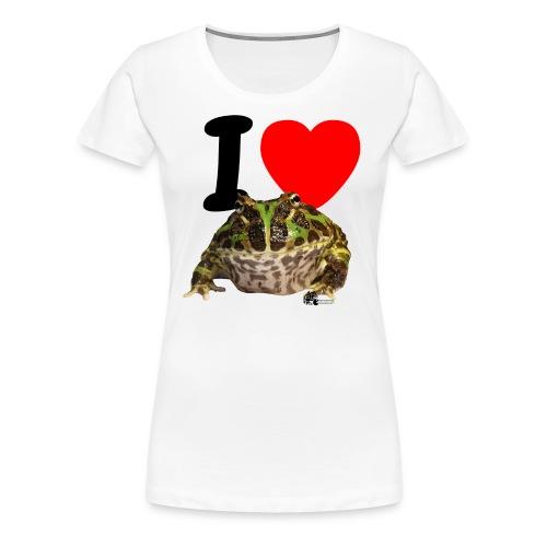 ilovepacman png - Frauen Premium T-Shirt