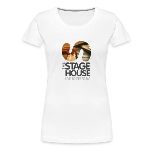 the stage house logo artwork piano cmyk - Women's Premium T-Shirt