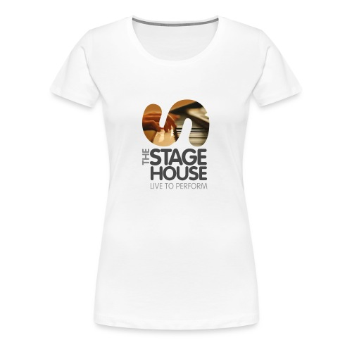 the stage house logo artwork piano cmyk - Women's Premium T-Shirt