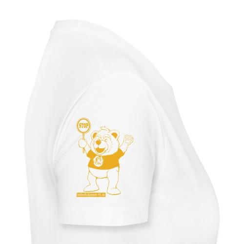 FUPO der Bär. Druckfarbe Orange - Frauen Premium T-Shirt