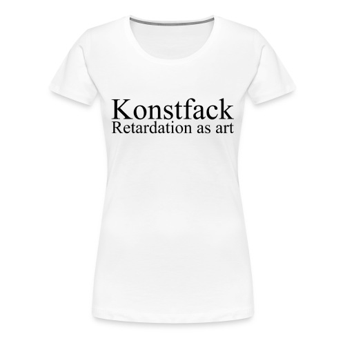 konstfack - Premium-T-shirt dam
