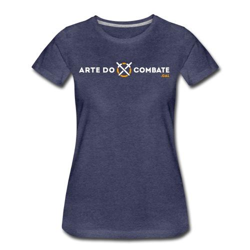 Logótipo «Arte do Combate» horizontal sobre preto - Camiseta premium mujer