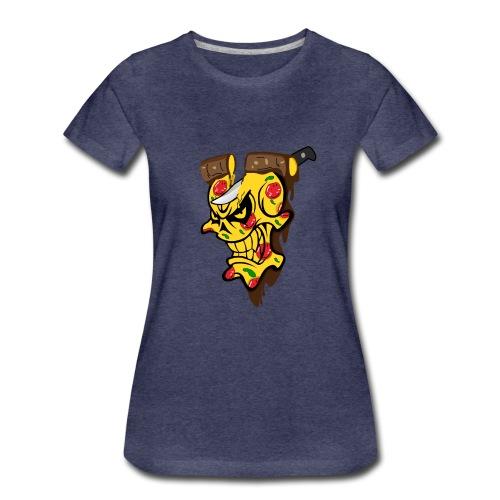 Pizza Schädel mit Messer - Frauen Premium T-Shirt