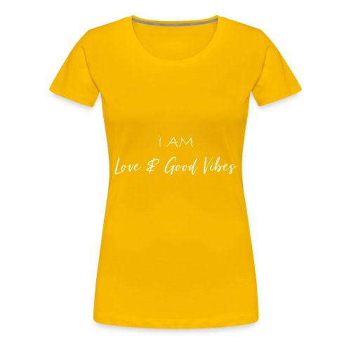 I am love and good vibes white gold - Frauen Premium T-Shirt