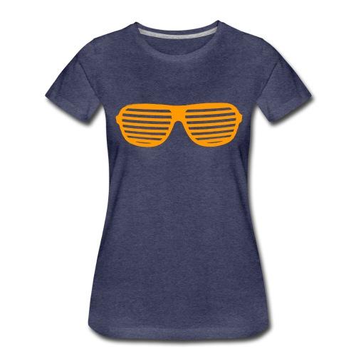 lunette Orange - T-shirt Premium Femme