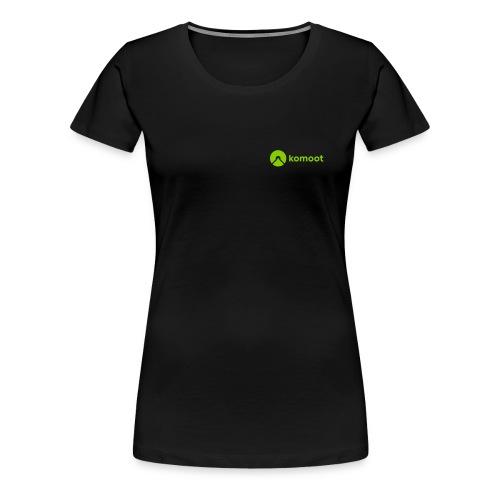 Horizontal Small White - Frauen Premium T-Shirt