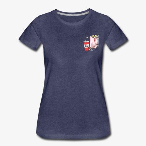 Popcorn teeth (dark backgroud) + pocket - Camiseta premium mujer