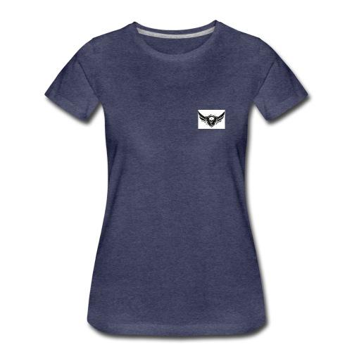 SKATEPIRATES Logo used black white - Frauen Premium T-Shirt
