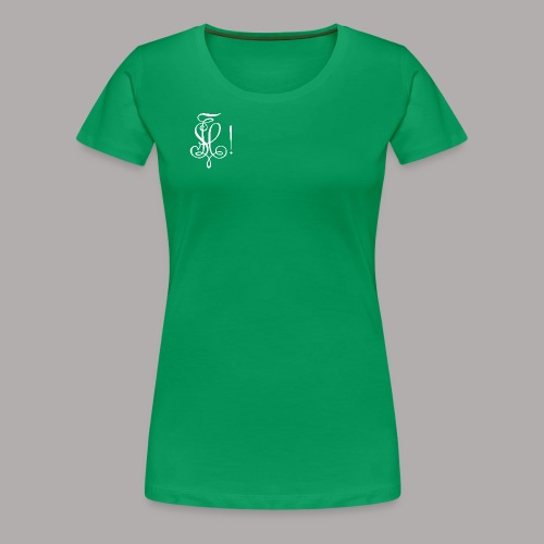 Zirkel, weiss (vorne) Zirkel, weiss (hinten) - Frauen Premium T-Shirt