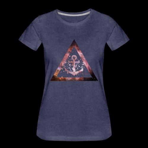 Galaxy Anchor Geometry Triangle - Frauen Premium T-Shirt