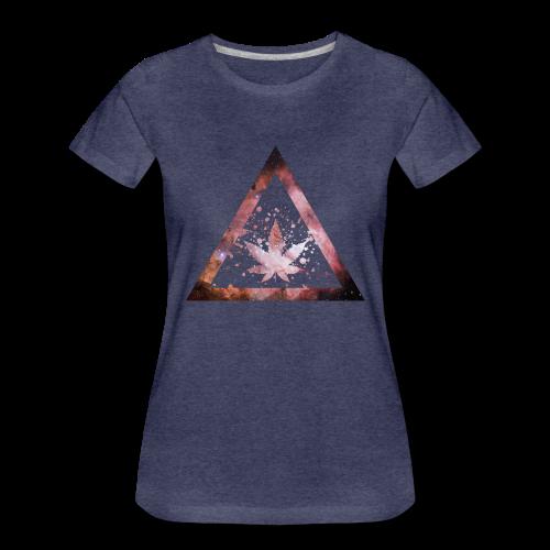 Galaxy Weed Marijuana Triangle Splashes - Frauen Premium T-Shirt