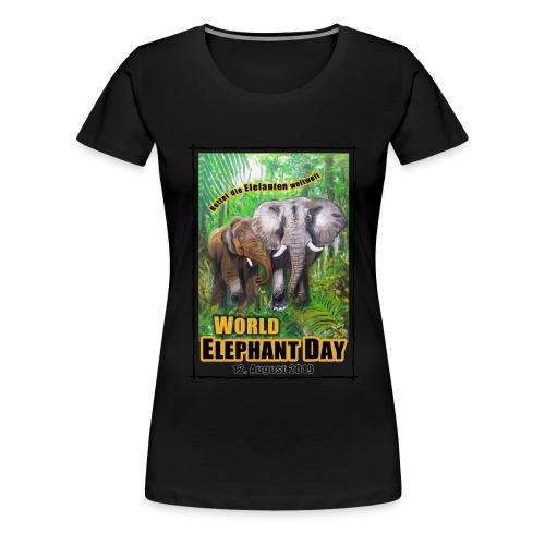 Welt-Elefanten-Tag 12. August 2019 - Frauen Premium T-Shirt