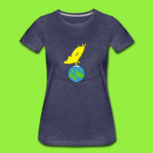 StitchPiggy on Top of the World - Women's Premium T-Shirt