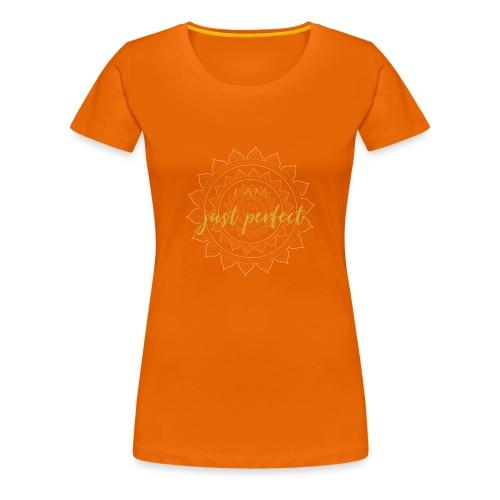 I am just perfect gold white mandala - Frauen Premium T-Shirt