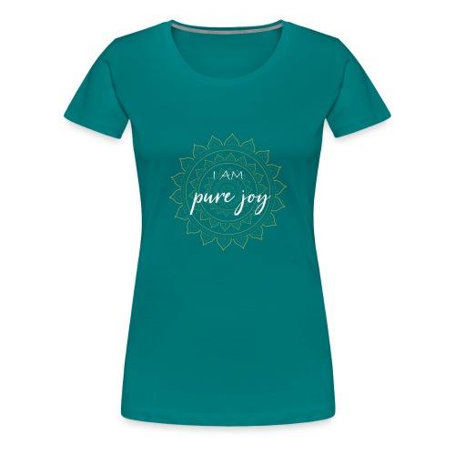 I am pure joy white gold mandala - Frauen Premium T-Shirt