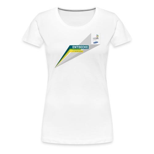 typobalken entdecke logo im kasten farb - Women's Premium T-Shirt