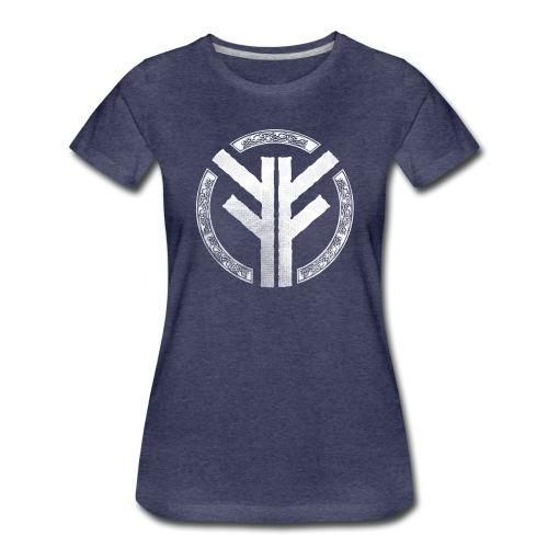 Forefather symbol white - Women's Premium T-Shirt