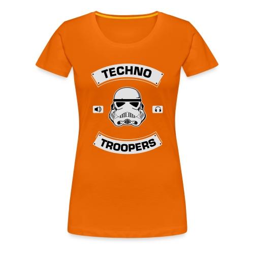 techno troopers - Frauen Premium T-Shirt