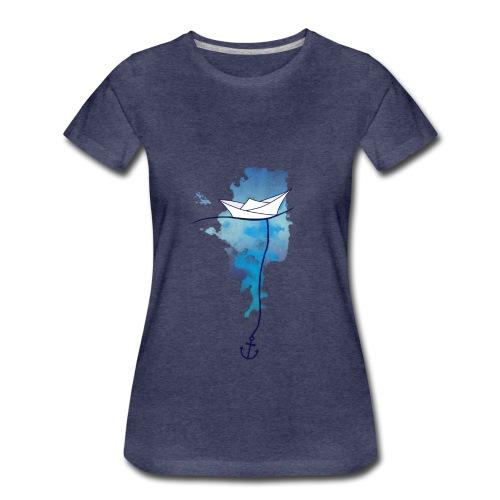 Papierschiff - Frauen Premium T-Shirt