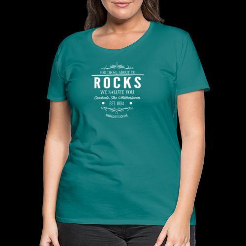 Vintage Rocks Label - Vrouwen Premium T-shirt