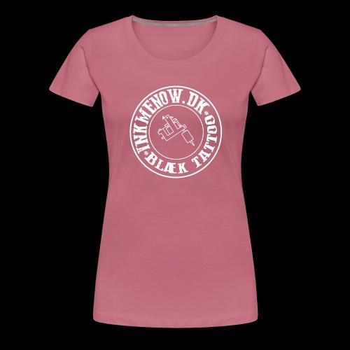 logo hvid png - Dame premium T-shirt