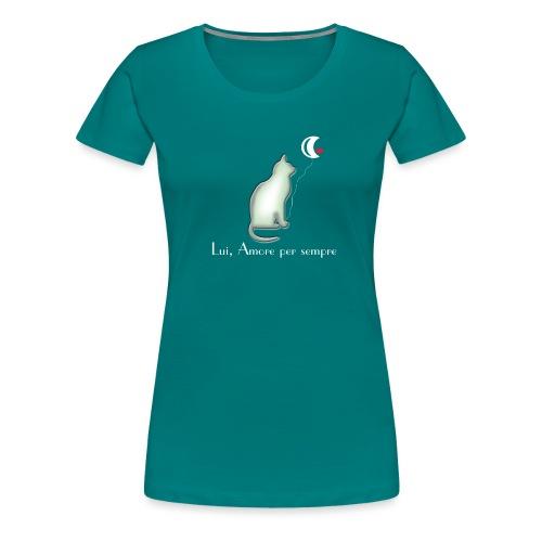 GATTO-E-LUNA - Maglietta Premium da donna