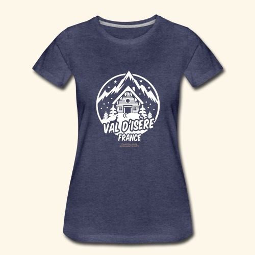 Val d' Isère Station de Ski France - Frauen Premium T-Shirt