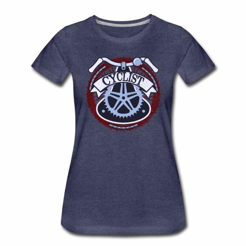 Cyclist Bike Shirt Grunge Retro Radfahrer Shirt - Frauen Premium T-Shirt