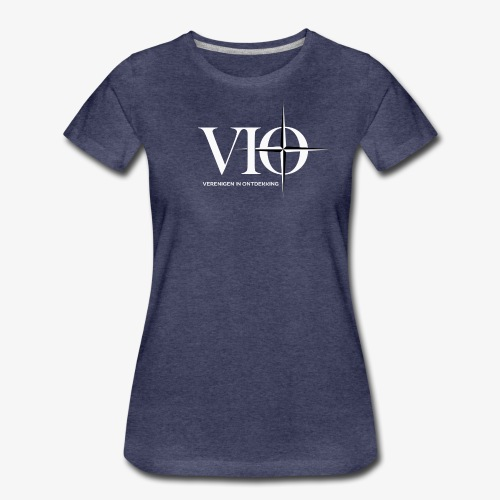 VIO groot voor NSN achter/zij WIT - Vrouwen Premium T-shirt