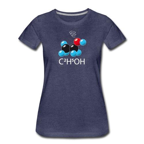 c2h5oh (sur Tshirts foncés) - T-shirt Premium Femme