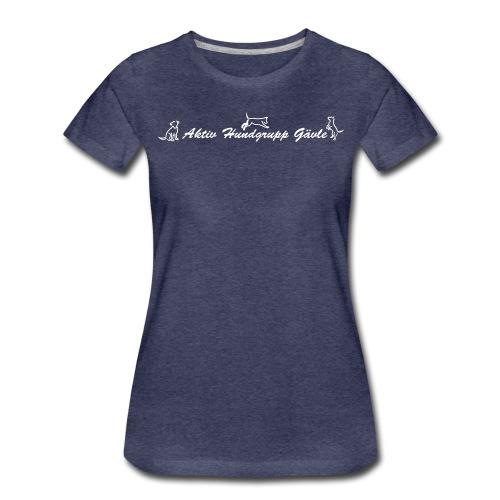 aktiv hundgrupp logo whit - Premium-T-shirt dam