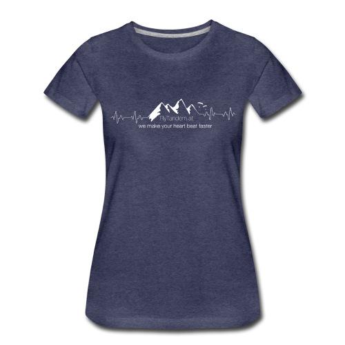 heartbeat weiß - Frauen Premium T-Shirt