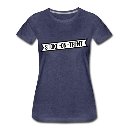stoke-on-trent banner - Women's Premium T-Shirt