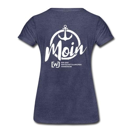 Moin Hanseraum weiß - Frauen Premium T-Shirt