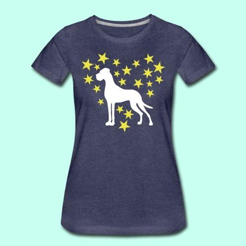 Sternenherz_Dogge - Frauen Premium T-Shirt