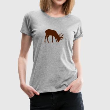 hirsch schatten schatten figur 3 - Frauen Premium T-Shirt