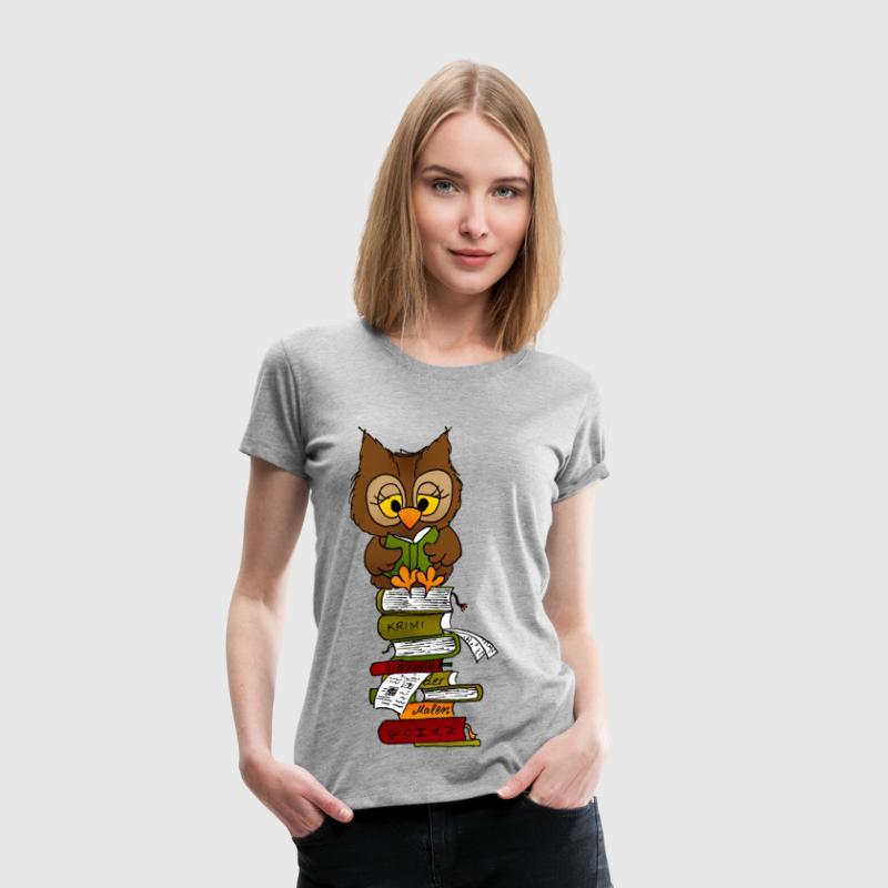 Büchereule Leseeule - Frauen Premium T-Shirt