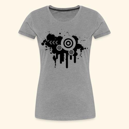 Black Grunge Vector - Women's Premium T-Shirt
