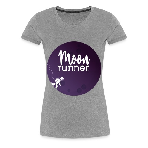 To the moon - Moon Runner + Astronaut solo - T-shirt Premium Femme