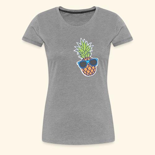 ananas met zonnebril - Vrouwen Premium T-shirt